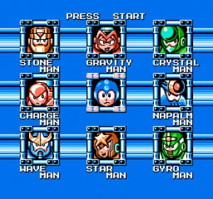Mega Man's eight new enemies