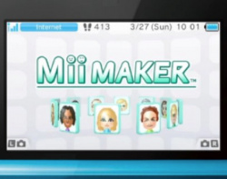 Create and share your Mii
