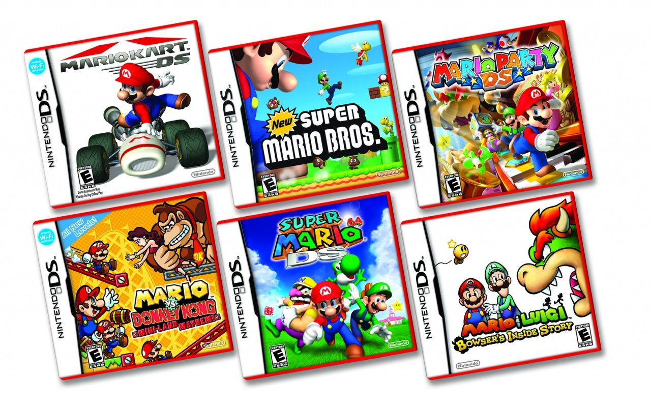 ds lite drops to 99 in us mario ds games go red nintendo life. Black Bedroom Furniture Sets. Home Design Ideas