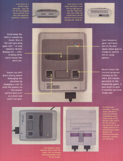 Technical features were commonplace; this example illustrated the differences between the SNES models