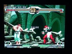 SNK vs Capcom Chaos is just one of the many classic fighters available on the format