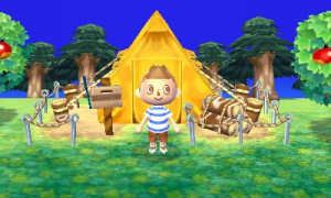 Camp in Animal Crossing.
