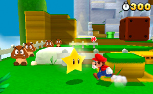 Super Mario 3D in action