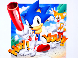 Early Sonic artwork was certainly attention grabbing.