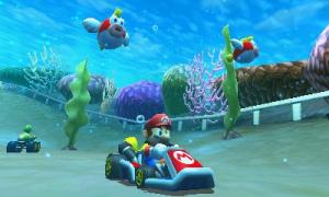 Underwater racing action