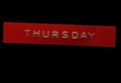 Gotta get down on Thursday.