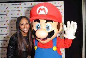 Maybe Mario brushed up his moves with Alexandra Burke