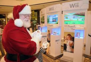 Santa getting his game on