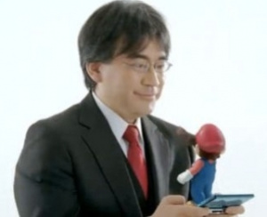 Satoru Iwata and Mario discuss the first year of 3DS