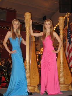 Giant harps...