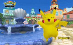 Pikachu's happy about PokéPark 2