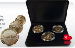 These commemorative coins can be yours if you complete the trilogy