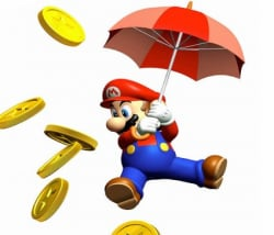 Mario keeps the coins coming