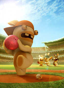 Beware Rabbids playing baseball