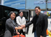 Iwata and Friends Enjoy a Job Well Done