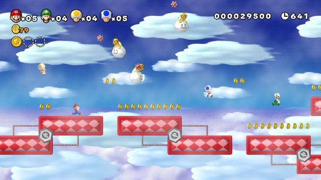 New Super Mario Bros. Mii - in the clouds