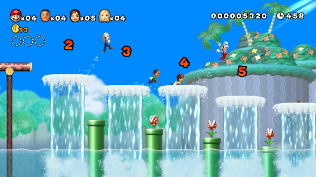 New Super Mario Bros. Mii - chasing waterfalls