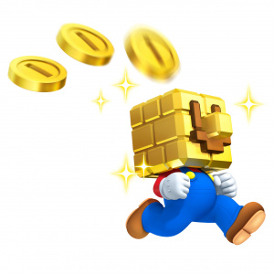 All this gold is getting to Mario's head