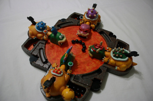 Bowser tries a new tactic to beat Mario
