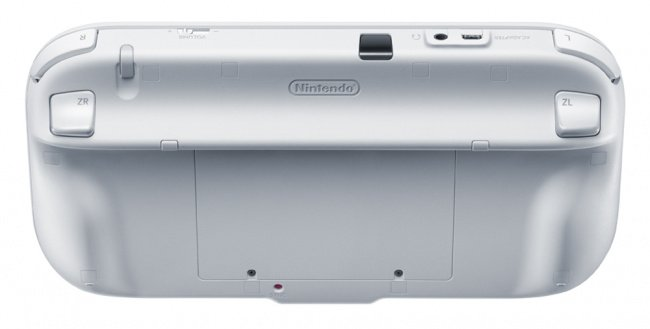 The back of the Wii U GamePad
