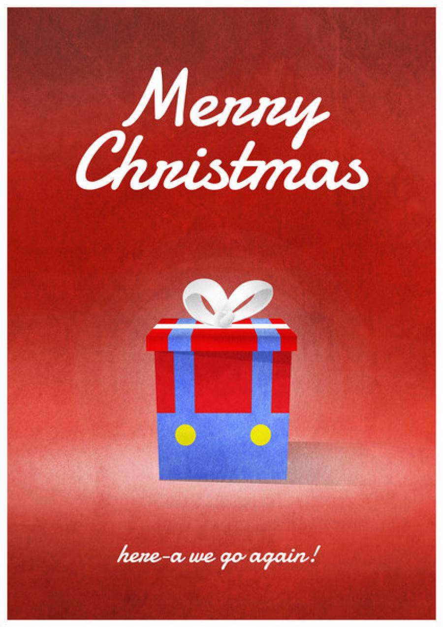 Mario Christmas Card Grande