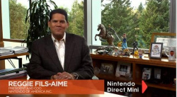 Reggie shows off his collectibles