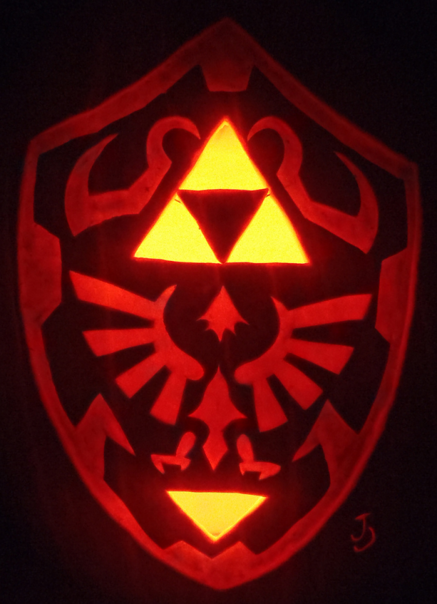 Hylian Shield Pumpkin by Joh Wee D4 Dqqmw