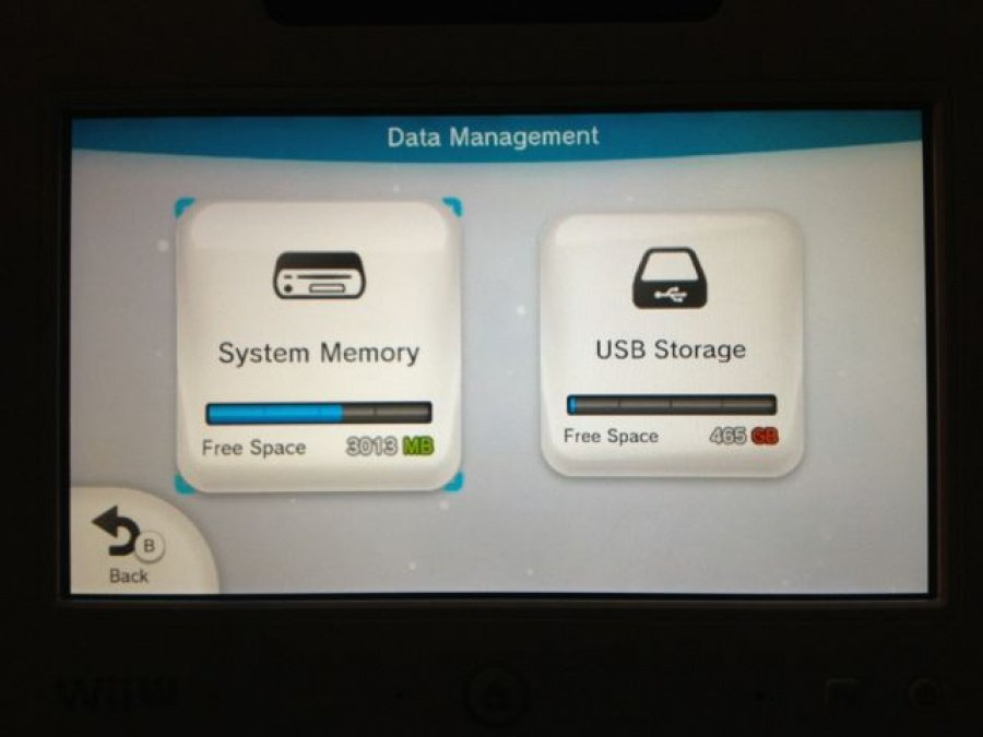 Data Management Screen