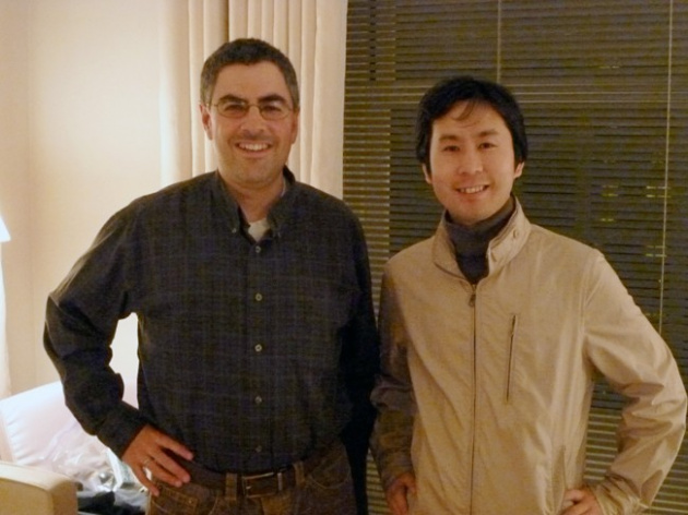With Daisuke Amaya (you might know him better as Pixel, the creator of Cave Story)