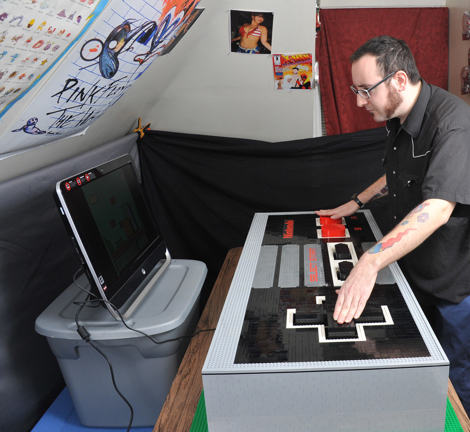 here u0026 39 s an enormous lego nes controller that actually works