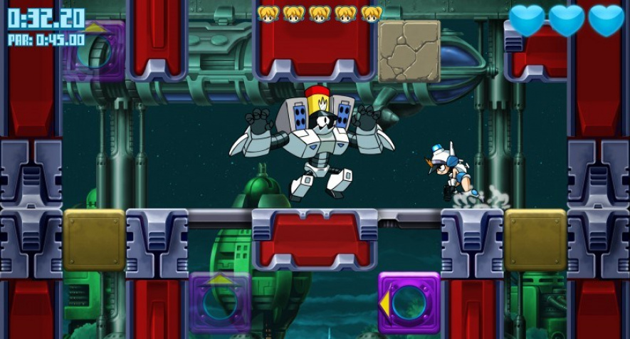 Mighty Switch Force Wii U Screen