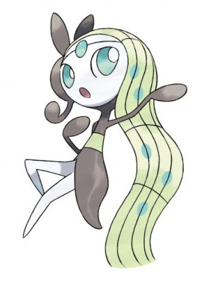 Meloetta in its Aria forme