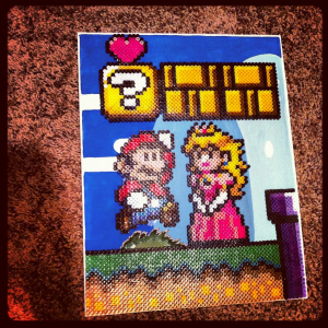 Heather's Nintendo beadcraft is all kinds of awesome