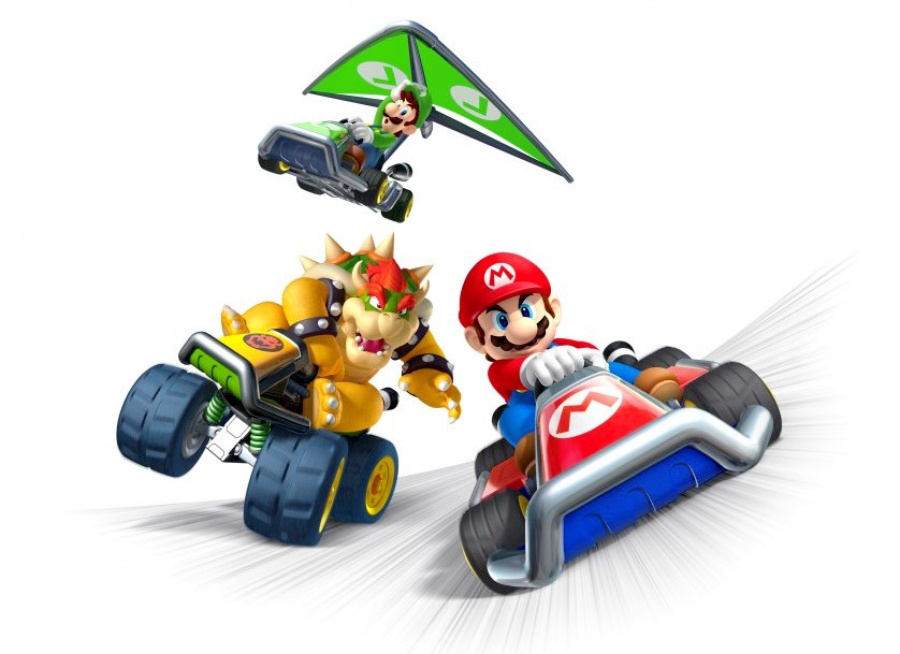 Mariokart7 Luigi Cameo