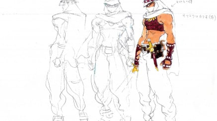 Concept art — supplied by Alex Jimenez — shows early designs for the player characters (click to enlarge)