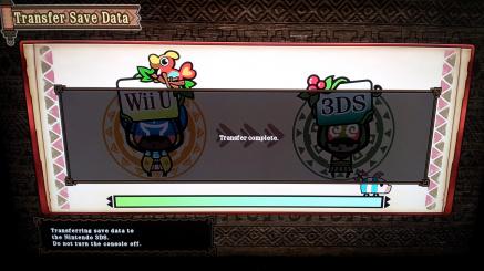 Wii U Transfer Comp U to 3 DS