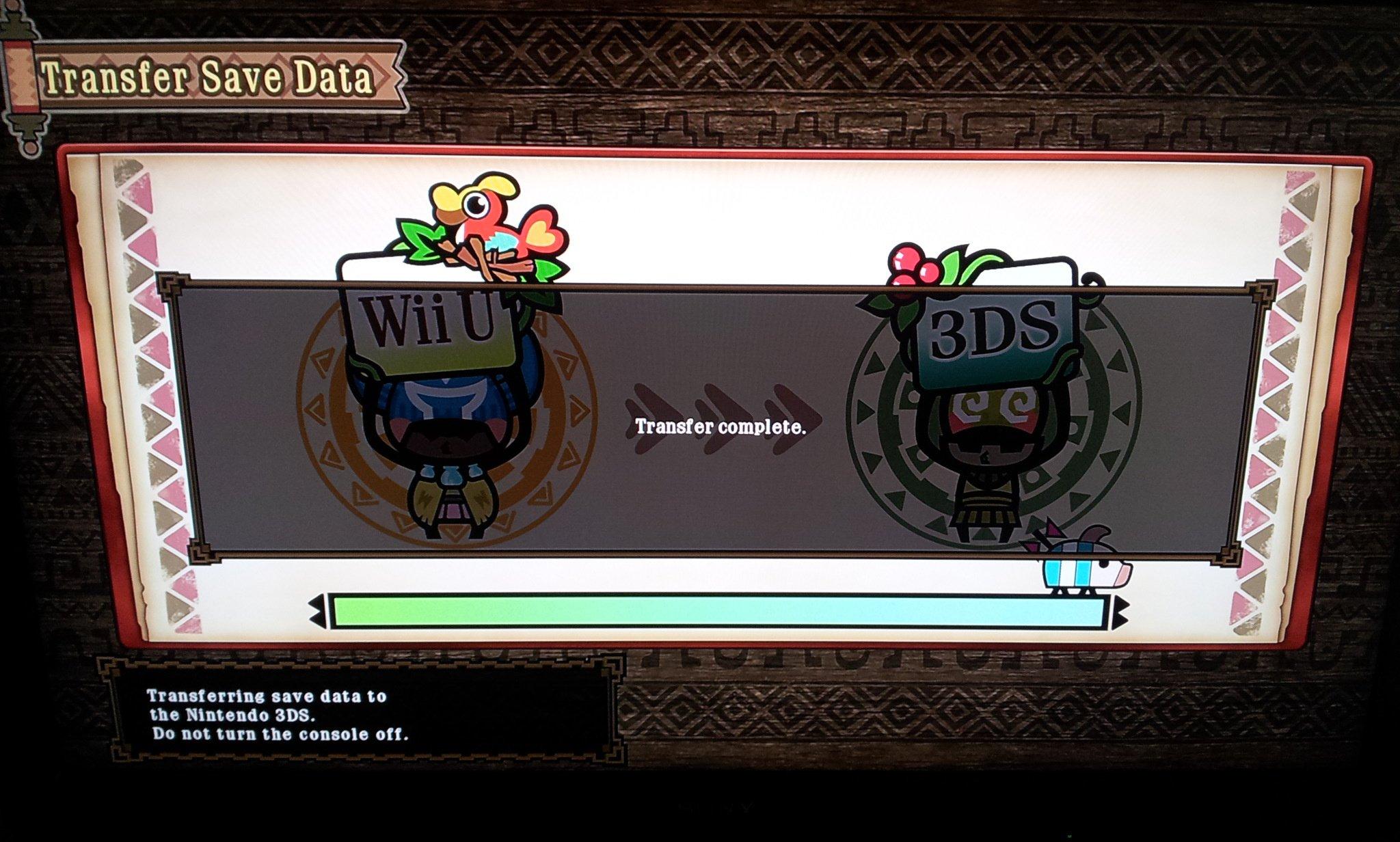 Transferring Your Monster Hunter 3 Ultimate Save Data