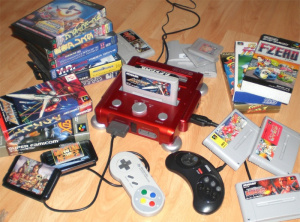 The RetroN 3 had support for NES, SNES and Genesis games