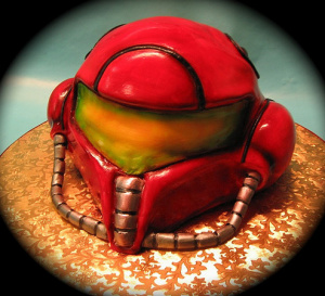 This awesome Samus cake is via http://judyonthenet.com