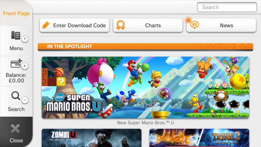 Wii U E Shop Banner