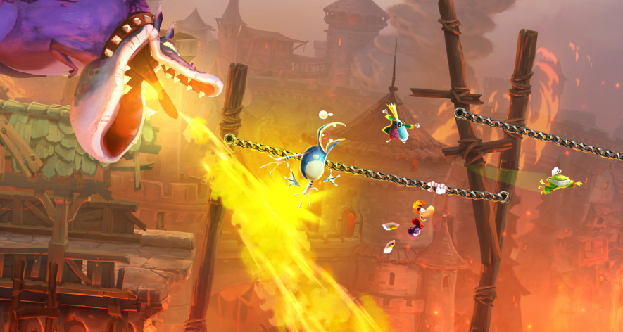 Rayman Legends Burned