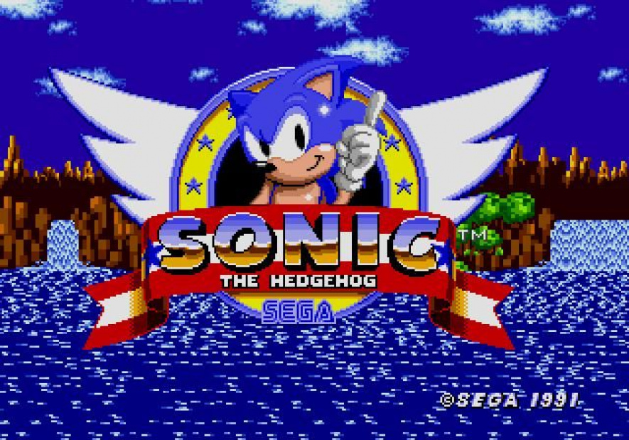 Sonic the Hedgehog Front Screen