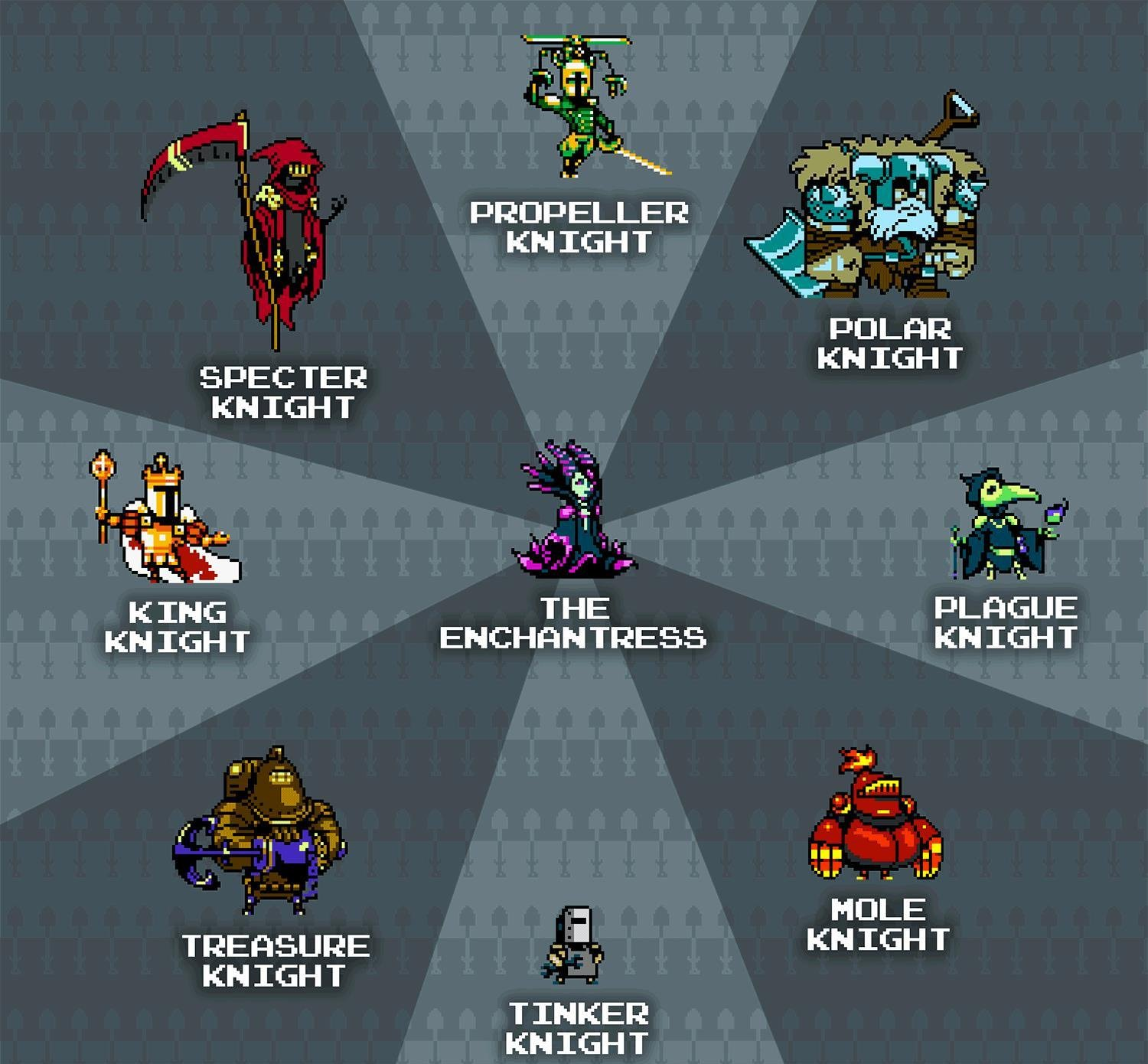 Shovel Knights Order of No Quarter Boss Lineup is ...
