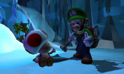 Luigi and Toad see the 3DS results
