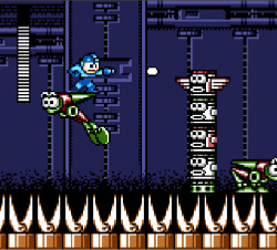 Mega Man, you're split into two! (image via thegaminghistorian.com)