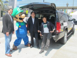 Luigi gets into the spirit of it