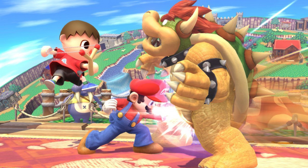 We know Mario really wants to win, but this crotch shot is just playing dirty