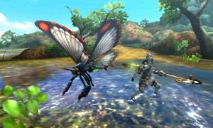 Pummel giant insects with a small insect on a staff