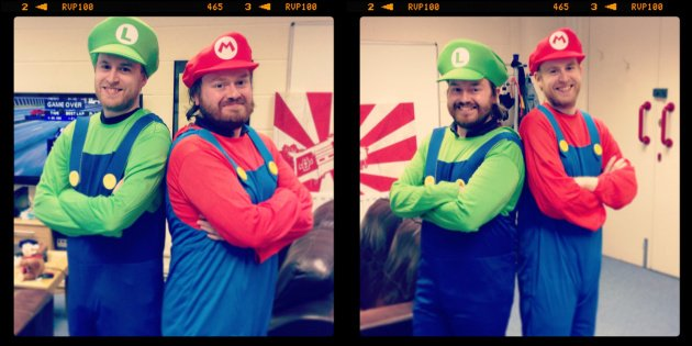 Ant as Luigi / Tom as Mario (Left), Tom as Luigi / Ant as Mario (Right)