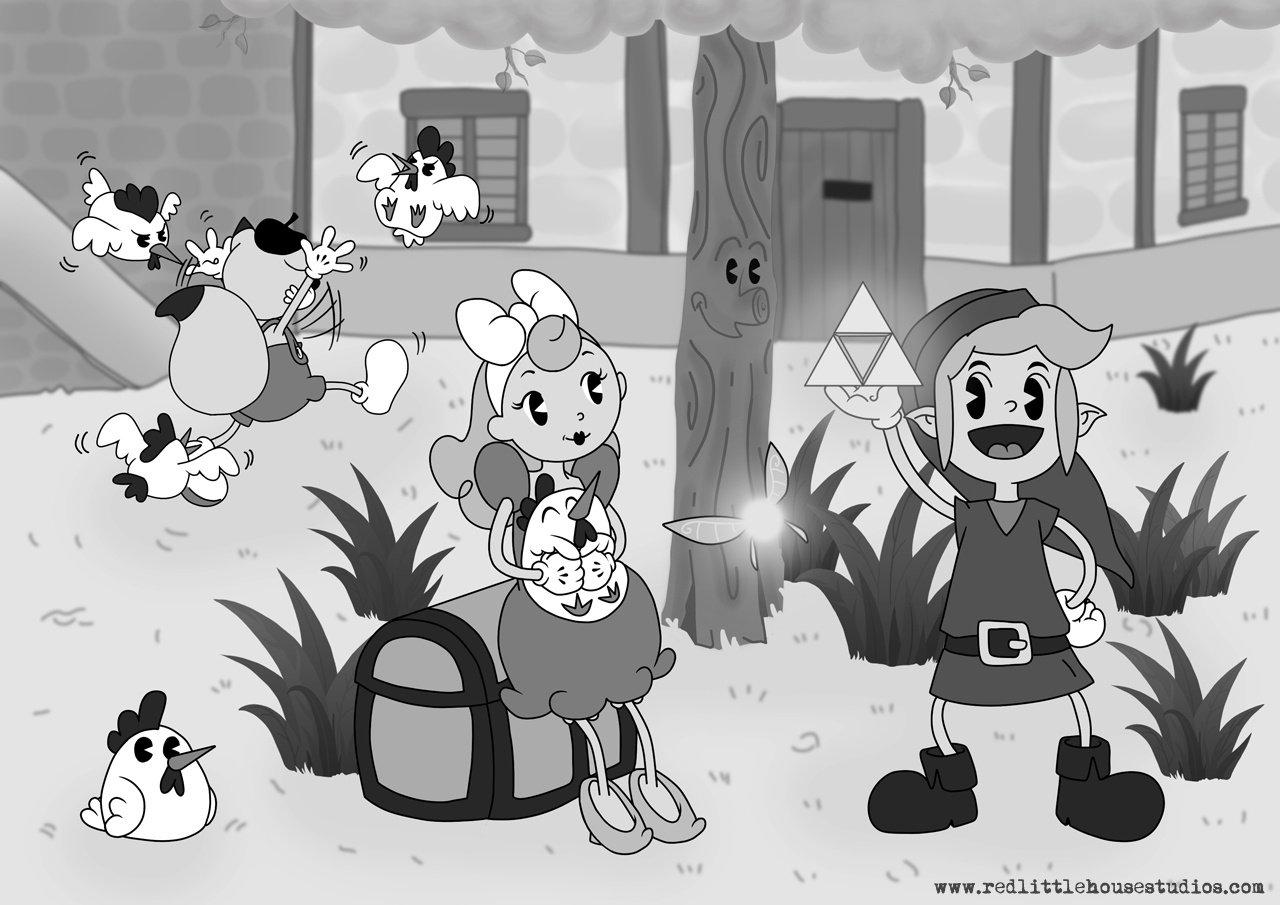 Weirdness Zelda And Pok 233 Mon Revisited As 1930s Disney Cartoons Nintendo Life